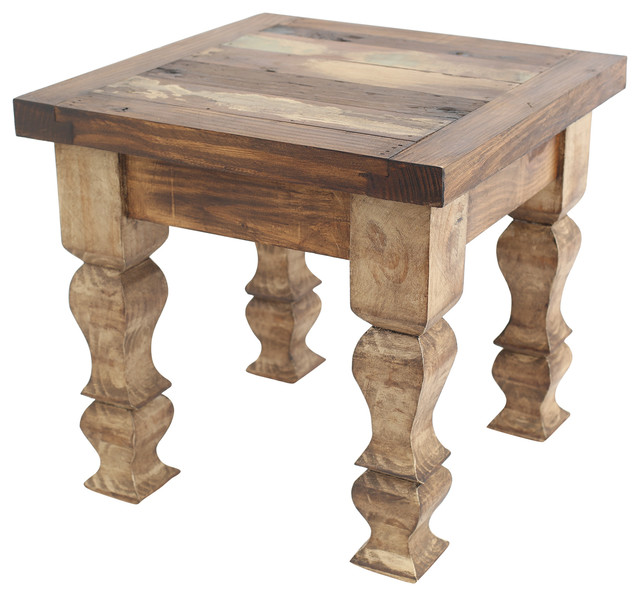 Rustic Old Door End Table