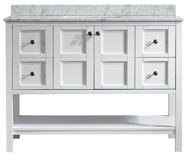 Florence 48 quot  Single Vanity  White  Without Mirror transitional bathroom vanities. Vinnova Florence 48 quot  Single Vanity   Bathroom Vanities And Sink