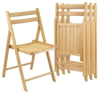 Winsome Wood Folding Chairs, 89131, Set Of 4