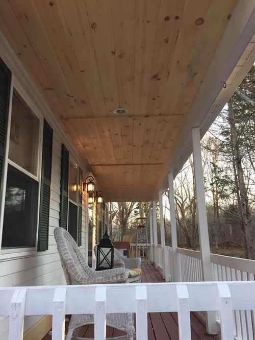New Porch Ceiling