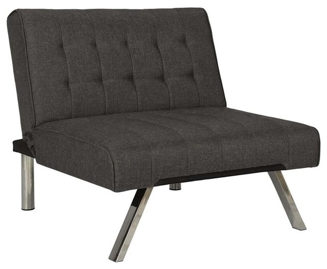 Dhp Emily Linen Chair Gray Contemporary Armchairs And