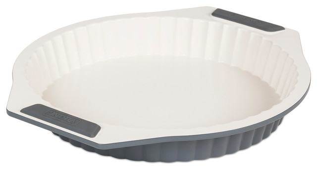 Viking Ceramic Coated Quiche Tart Pan Contemporary Pie