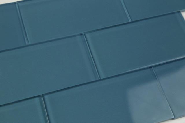 Bodesi Dark Astoria Blue Gl Subway Tile Sample