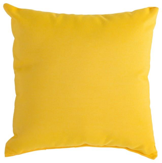 Sunbrella Outdoor Pillow, Sunflower Yellow Contemporary Outdoor Cushions  And Pillows