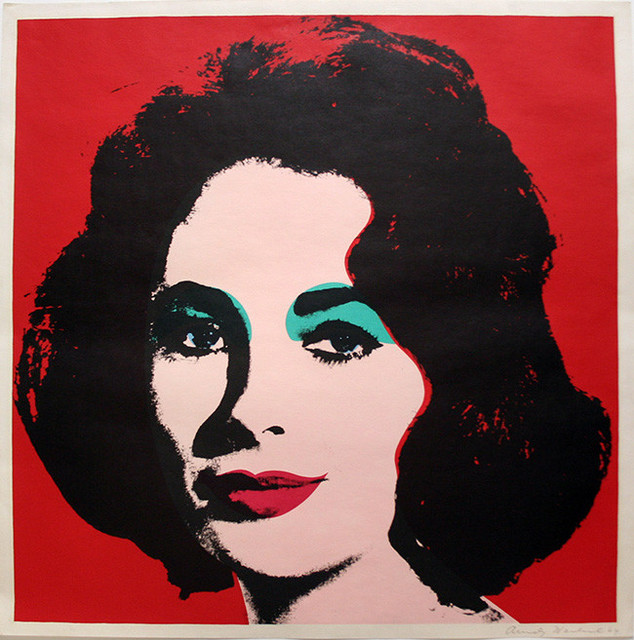 """Fabuleux Liz FS II.7"""" Pop Art by Andy Warhol, Hand-Signed - Contemporary  HT97"""