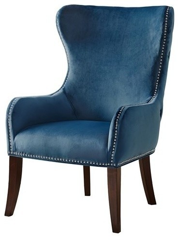 Penelope Upholstered Wingback Chair.