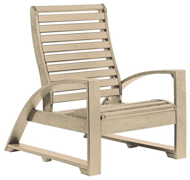 C.R. Plastics St Tropez Lounger Chair In Beige