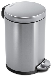 4.5 Litre Round Step Can - Modern - Wastebaskets - by simplehuman
