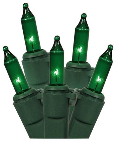 Mini Christmas Lights, Green.