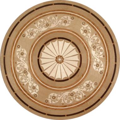Brazilian flair wood medallion traditional floor for Wood floor medallions