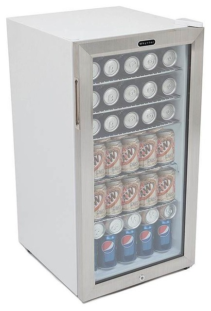 Whynter Beverage Refrigerator With Lock, Stainless Steel 120 Can Capacity.