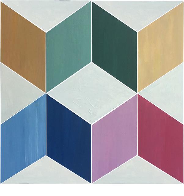 12 X12 Flooradorn Squared Color Tiles Set Of 24 Contemporary Vinyl Flooring By Julie S Floor Adorn