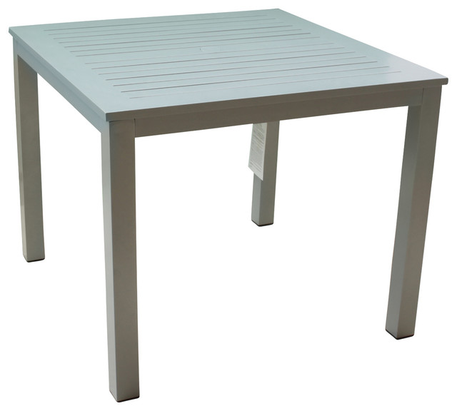 Skyline Grey Aluminum Outdoor Square Dining Table