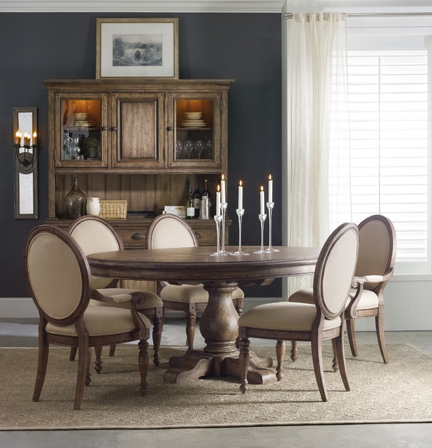 Hooker Furniture Miramonte 54 Inch Round Pedestal Dining Table With