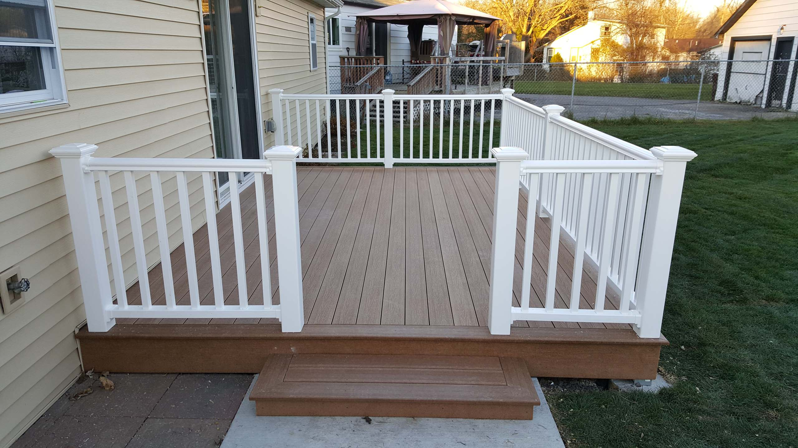 Composite deck completed