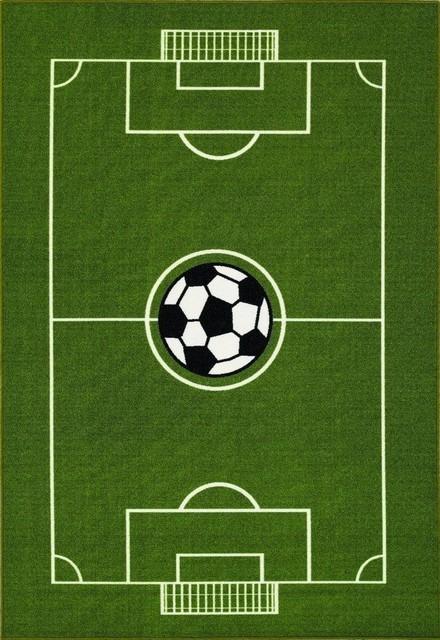 All Stars Soccer Ground Kids Rug, 6&x27;x9&x27;.