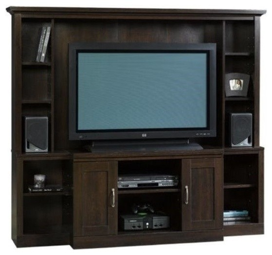 Sauder Select Large Entertainment Center Cinnamon Cherry
