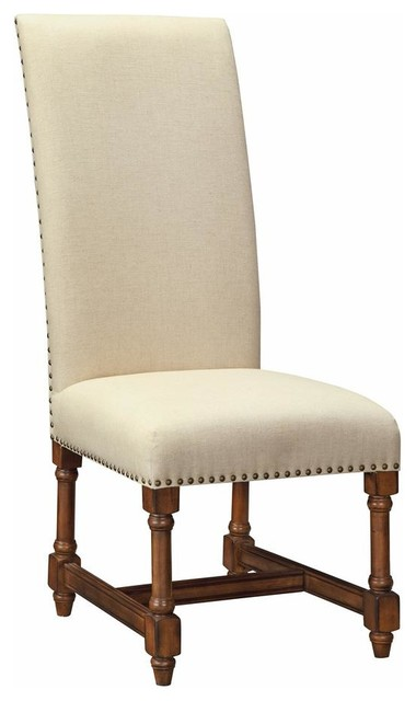 Dining Chairs, Brown /Beige, Set of 2
