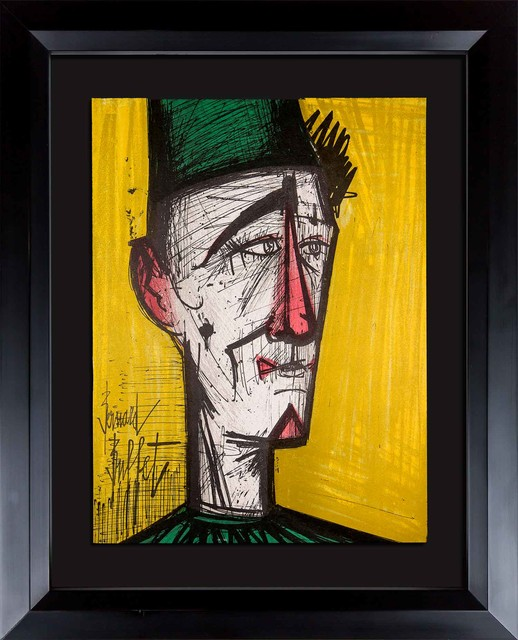 Astonishing Bernard Buffet Original Signed Lithograph Le Clown Framed Interior Design Ideas Apansoteloinfo