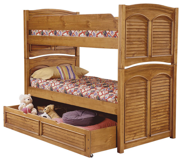 American Woodcrafters Cottage Traditions Over Full Bunk Bed Bunk Beds By Bedroom Furniture