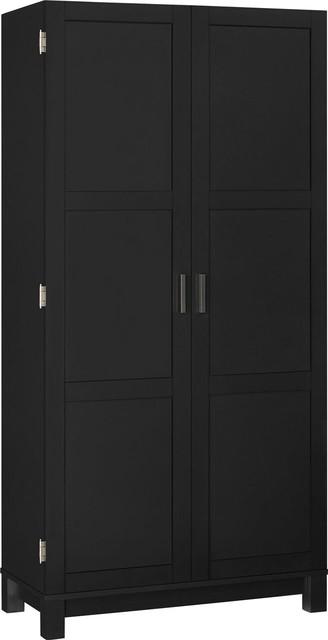 "Savannah 64"" Storage Cabinet, Black."