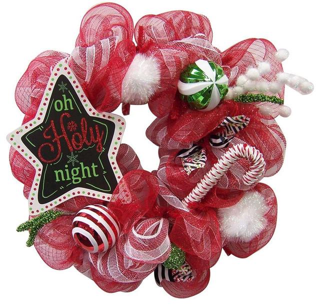 O Holy Night 26 Deco Wreath.