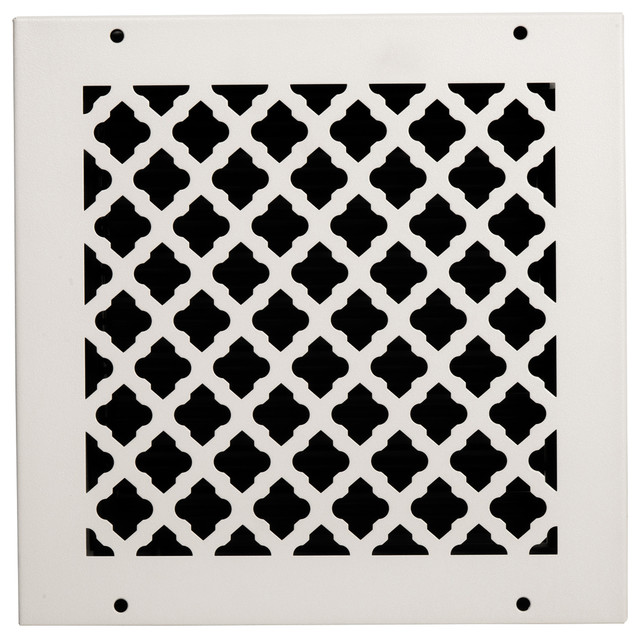 "Solid Steel Return Vent Cover, White, Fits Duct Opening 10""x10""."