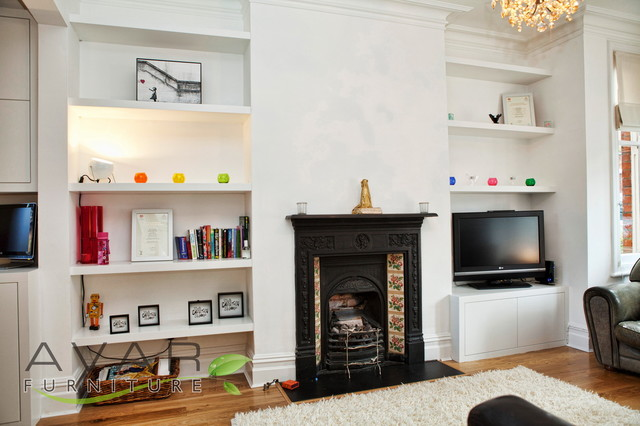 Bespoke Alcove Shelving In London London By Bespoke Fitted Furniture London Avar Furniture