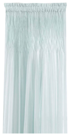 Heirloom Voile Robins Egg Blue Curtain Panel 42x96