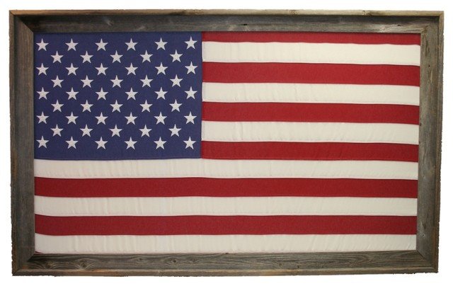 Texas Crazy Large Framed 3 X5 Us American Flag
