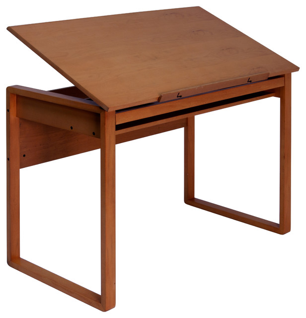 Ponderosa Wood Topped Table, Sonoma Brown Transitional Drafting Tables