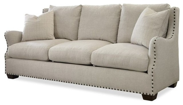 High Quality Connor Upholstered Sofa, Linen Transitional Sofas