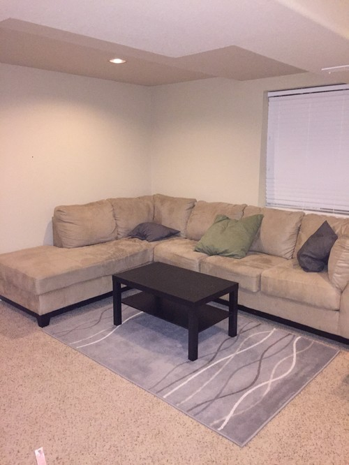 Need help decorating corner wall space above sectional for Living room 50 off january