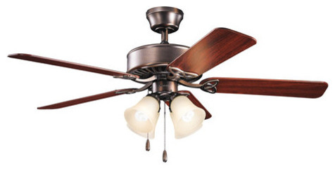 "Kichler Renew Premier 50"" Indoor Ceiling Fan With 5 Blades Oil Brushed Bronze."
