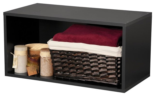 Large Open Storage Cube, Black - Contemporary - Storage Cabinets - by ...