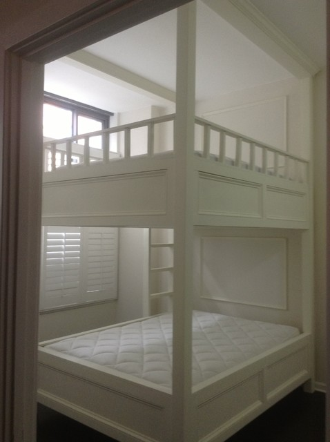 Custom Designed And Built Queen Size Bunk Bed Modern
