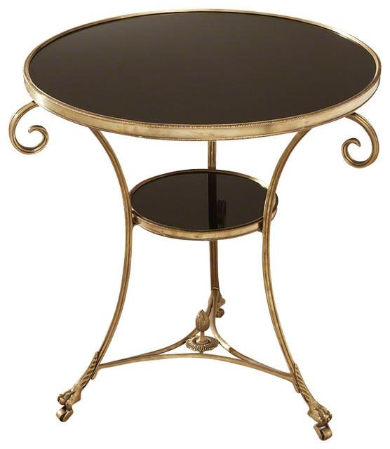 Astounding Global Views Gueridon Table Brass And Black Granite Frankydiablos Diy Chair Ideas Frankydiabloscom