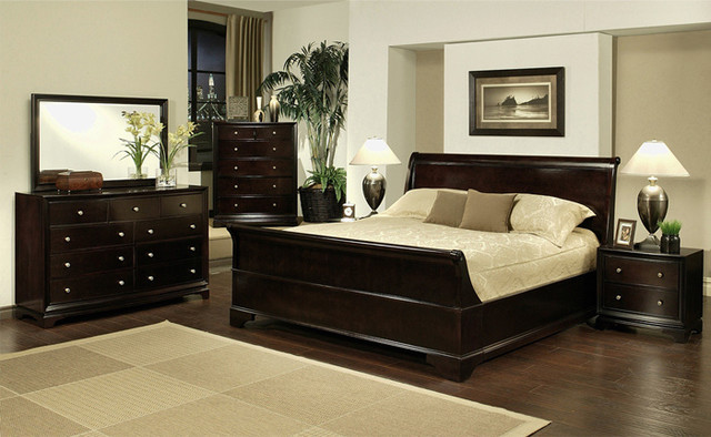 Abbyson Living 4-piece Sleigh California King-size Bedroom Set