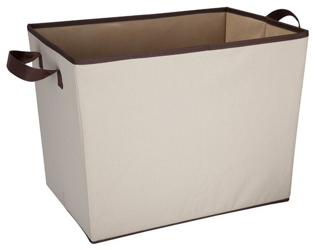 Square Canvas Storage Basket With Handles, Set Of 2.