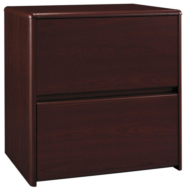 Bush Business Furniture Bush Northfield 2-Drawer Lateral Wood File Storage Cabinet in Cherry ...
