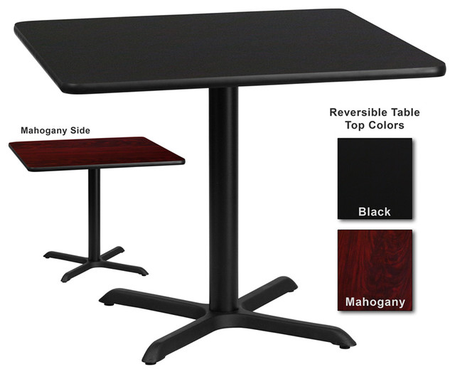 Flash Furniture 36 Inch Square Dining Table With Reversible Laminate Top  Transitional Dining Tables