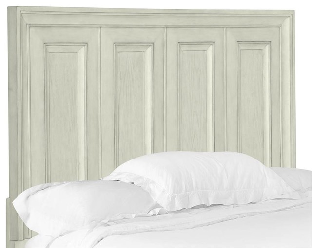 Panel Bed Headboard In Weathered White Finish (queen: 64.13 In. L X 2.75 In. W X.