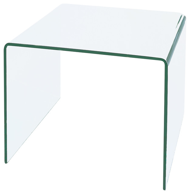 Waterfall Bent Glass End Table Contemporary Side Tables And End Tables
