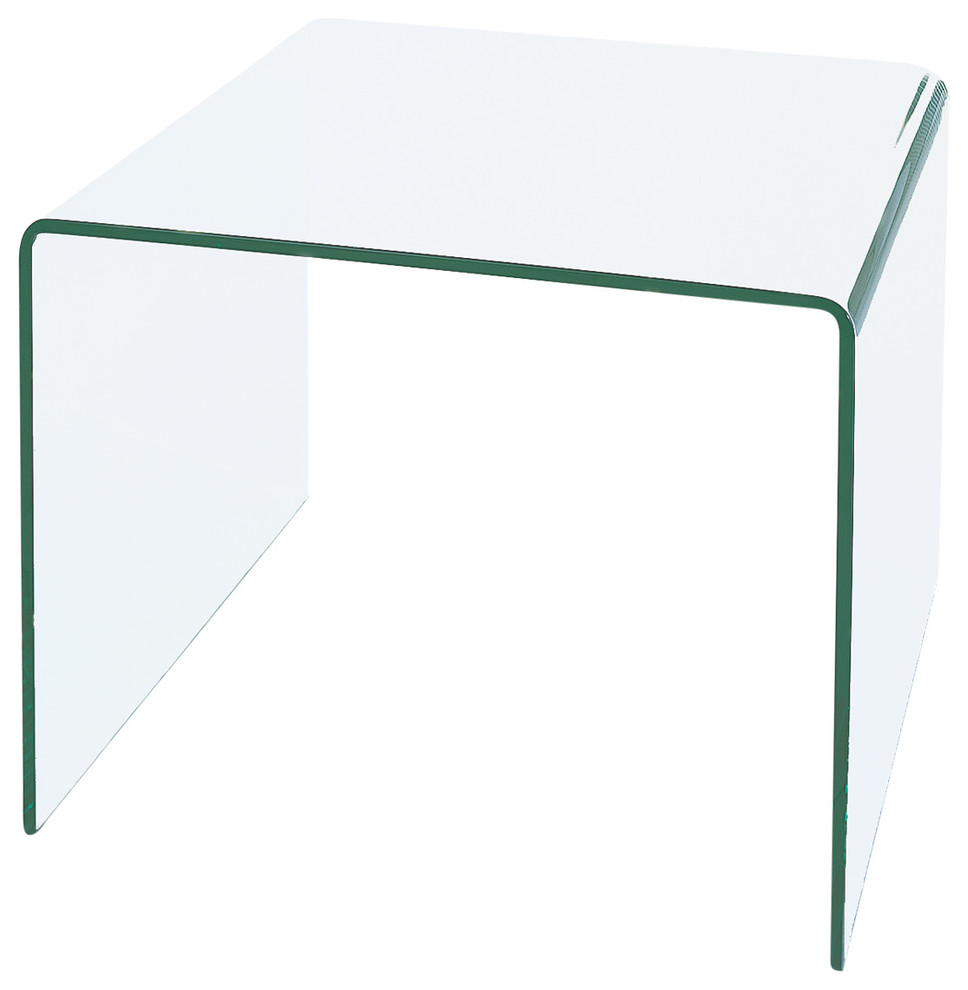 Waterfall Bent Glass End Table Contemporary Side Tables And End Tables By Bh Design Houzz [ 990 x 968 Pixel ]