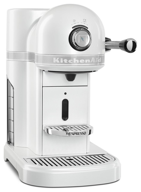 KitchenAid KES0503FP0 Frosted Pearl White Nespresso Espresso Maker    Contemporary   Espresso Machines   By BIGkitchen
