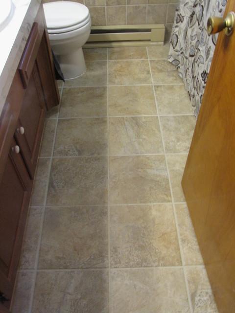 Mesa Beige Tile Bathroom Pierce Traditional