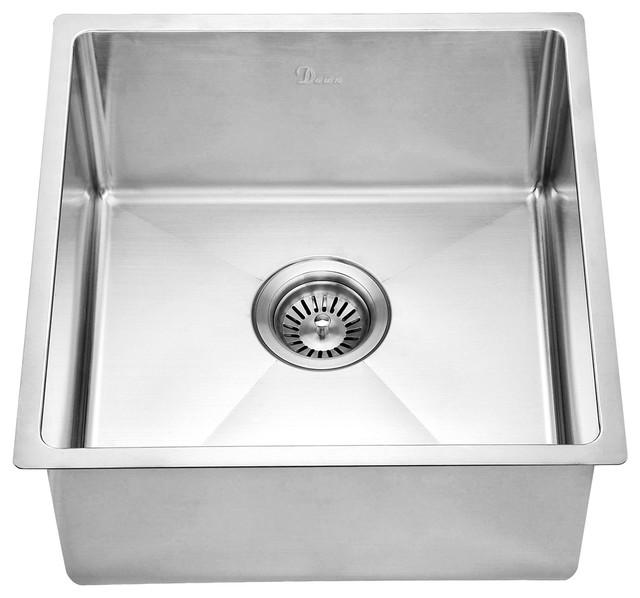 "Dawn Bs161609 18"" Single Bowl Undermount 18 Gauge Stainless Steel Bar Sink."