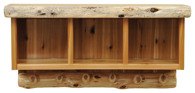 Cedar Entry Hanging Locker - Rustic - Storage Cabinets - by Fireside Lodge Furniture