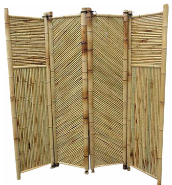 Bamboo Screen 4 Panels Self Standing 72W x 72H Tropical