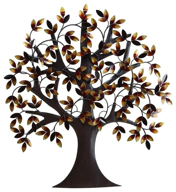 Metal Tree Wall Decor - Contemporary - Metal Wall Art - by Benzara ...